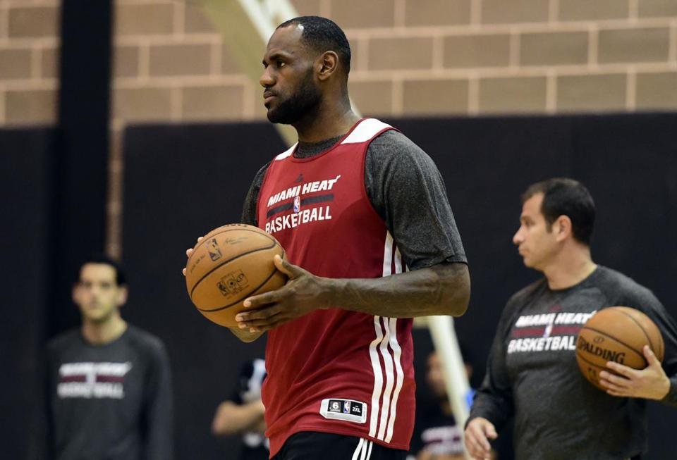 LeBron James has received treatment for the cramps he suffered in Game 1 and vows to be ready to go on Sunday night.